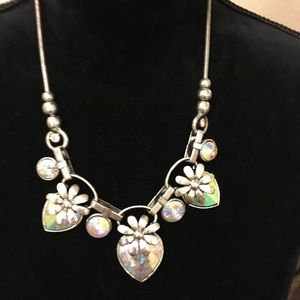Jewelry - Crystal Hearts Silver Tone Metal Shapes+